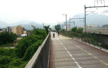 Cycling the northern Han River