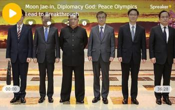 Moon Jae-in, Diplomacy God: Peace Olympics Lead to Breakthrough
