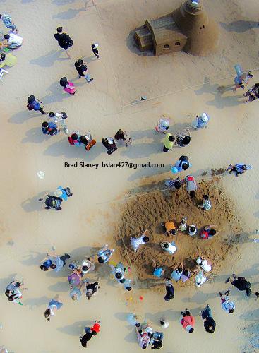 Haeundae Beach - Sand Castles - From a Kite