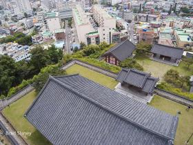 Ulsan, from a kite - Temple